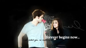 Edward and Bella wallpaper by heretoparty