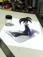anamorphic drawing by starryjohn