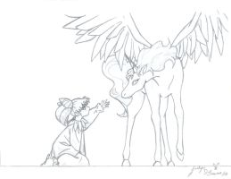 Rini and Pegasus by axel4ever