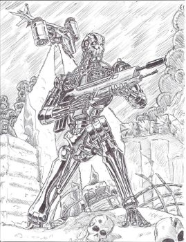 T-800 doodle by vermithrax40
