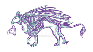 Gryphon Sketch by Skitcy