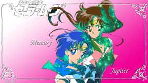 Sailor Mercury And Jupiter by KittySpiceLife