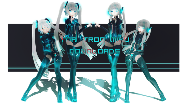 COLLOB AND DOWNLOADS:TDA Tron Miku by ThisisKENZ