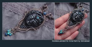 Goddess pendant for Anna-Karin by bodaszilvia