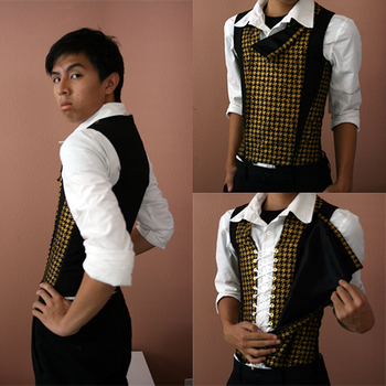 gold and black houndstooth by imafreakinazn