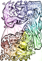 Contest: Rainbow of OCs by tanukyle