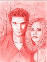 Angel and Buffy by th3limit