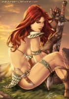 Red Sonja by diabolumberto