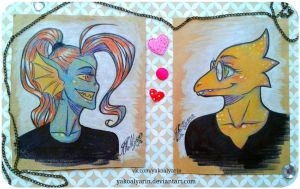 Undyne and Alphys by YakoAlyarin