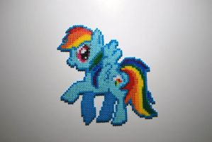 Rainbow Dash Bead Sprite by craftyhanako