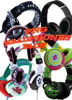 PNG headphones pack by arisa11