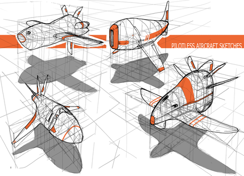 pilotless aircraft sketches by azelinus
