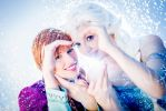 Anna and Elsa: Frozen sisters by princess-soffel
