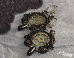 Steampunk earrings, 'Time keeper' collection by bodaszilvia