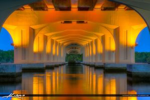 Veterans-Memorial-Bridge-Palm-City-Florida-Under-B by CaptainKimo