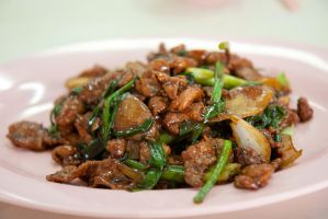 stir fried wild boar meat by patchow