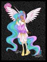 Princess Celestia a-la-Monster High by NemoTurunen