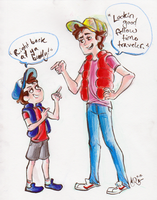 Dipper Marty Pines McFly by scruffynerfherder