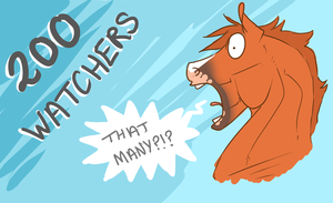 200 watchers by horsy1050