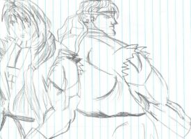 ryu and  ken by paul626