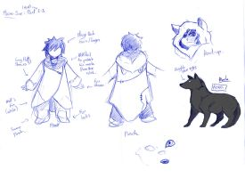 The boy and the wolf by Niva-Art