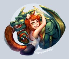 . 185 - The tiger and the dragon . by Amelion