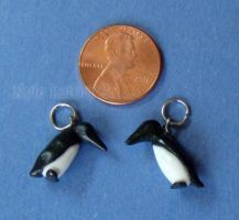 Micro Miniature Penguin Charms - 2 Cute by Kyle-Lefort