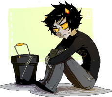 Karkat and the Bucket by Jotaku
