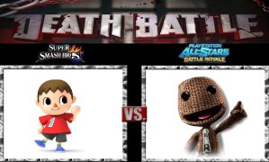 Death Battle Viliger vs Sackboy by Werewolf-Hero