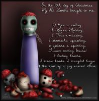 My Pet Zombie Christmas Day 10 by fallnangeltears