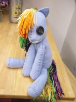 My Little Pony - Creepy Rainbow Dash Doll by charletothemagne