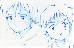 Kid Miroku Sketches by kakashi1920