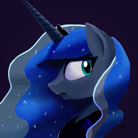 Luna Perturbed by DarkFlame75