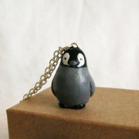 Baby Penguin Necklace by FlowerLandBySaraMax