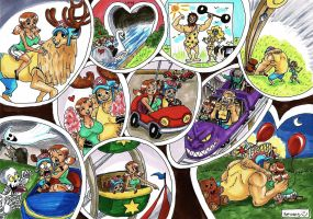 Dating in amusement park by heivais
