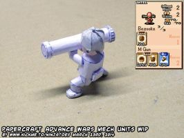 Papercraft Advance Wars Mech unit WIP1a by ninjatoespapercraft