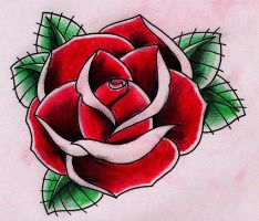 Red Rose by Kirzten