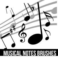 Musical Notes Brushes (no son mios) by Swiftie1310