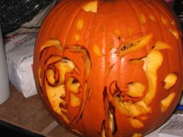 The Corpse Bride Pumpkin V+C1 by SquirtBox