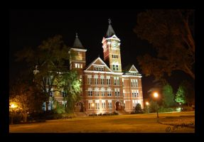 Samford Hall at Night by MattOnADinosaur