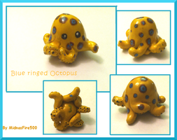 Clay Blue ringed octopus by MidnasFire500