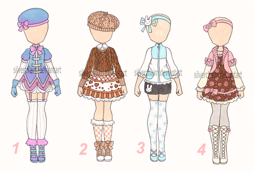 Simple outfits (Closed) by SilverChaim