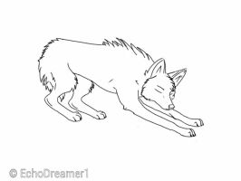 Wolf Lineart: Stretch by Somniavii