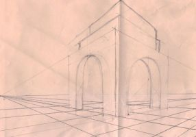 Two point perspective Arch by liquid-trauma