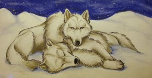 Wolf love by BlackCat-Bia