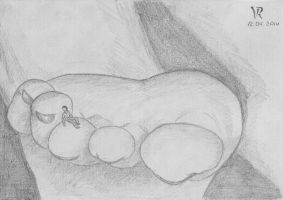 Sweet dreams on the giantess toes by VRSeverson