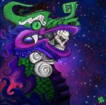 Space Serpent of Death by MayanMuscle
