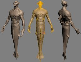 Merman nearly done. by The-3DArtist