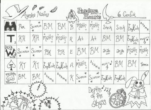 Pandora Hearts Timetable by edwardfanatic245
