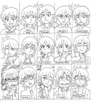 15 Expressions of Asmodine by Joichiroll